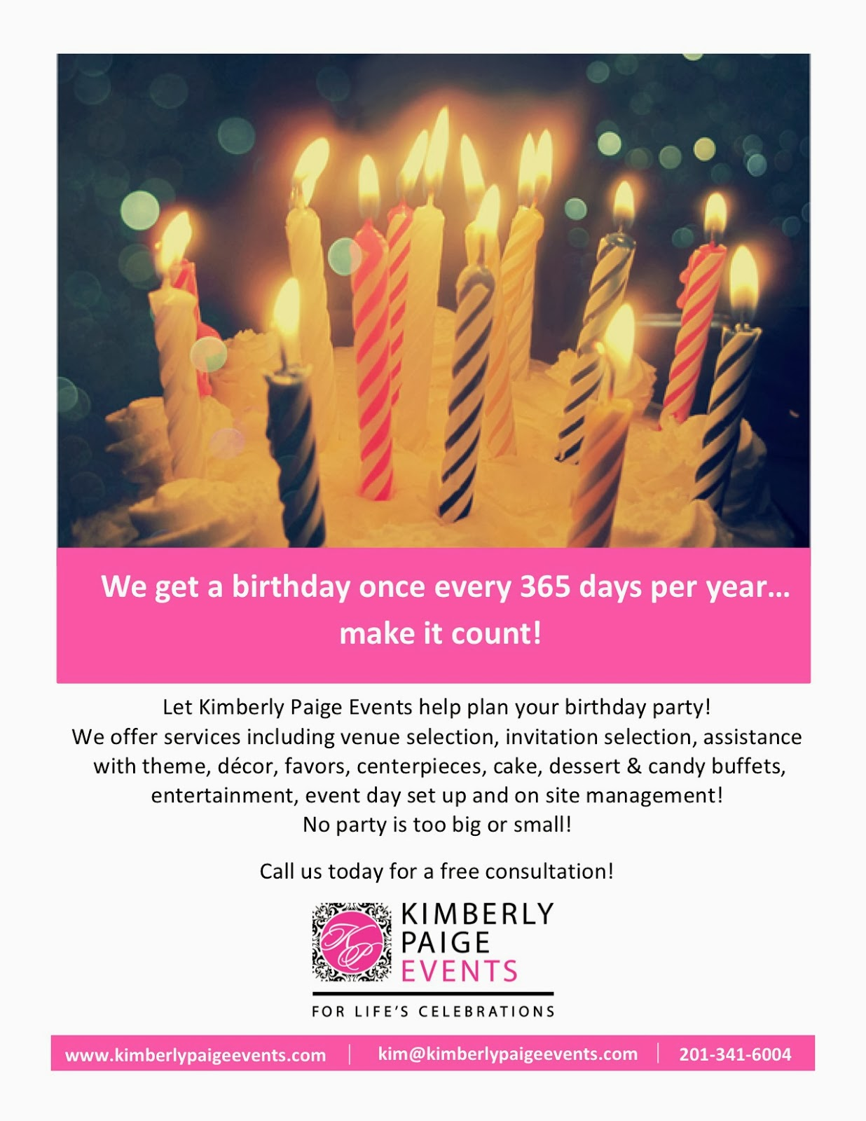kimberly paige events planning a birthday party