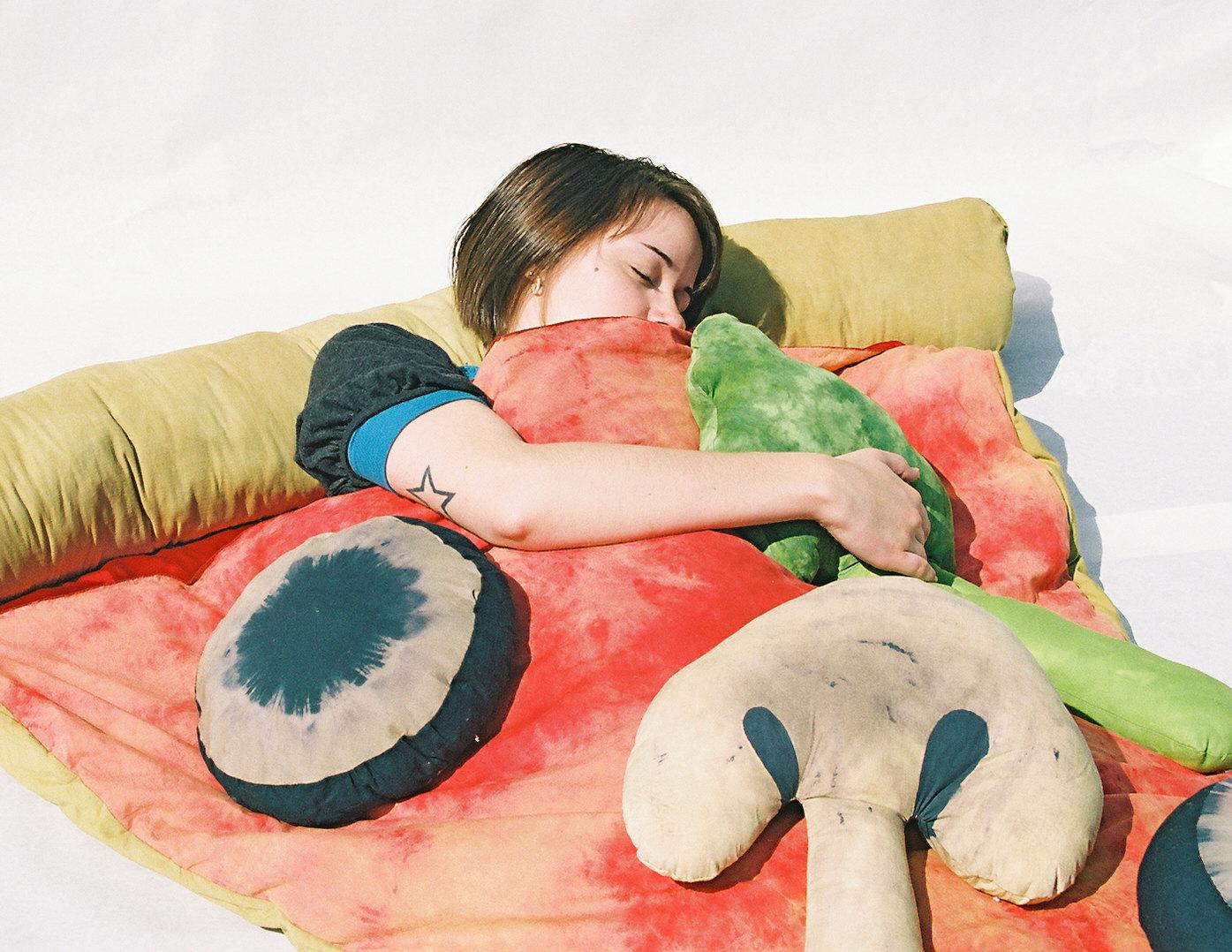 saco de dormir pizza