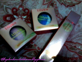 luview triple baked eyeshadow and mascara