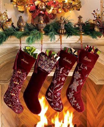 medias de navidad colorida
