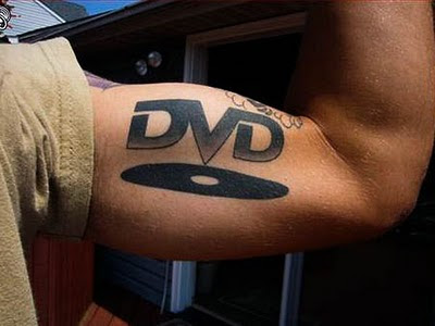 DVD Tattoo Design