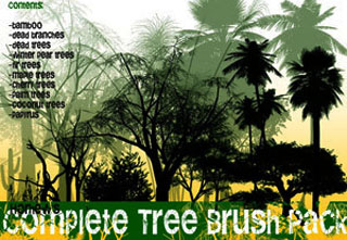 Complete Tree Brush Pack, brushes photoshop, Photoshop Brushes, CS5