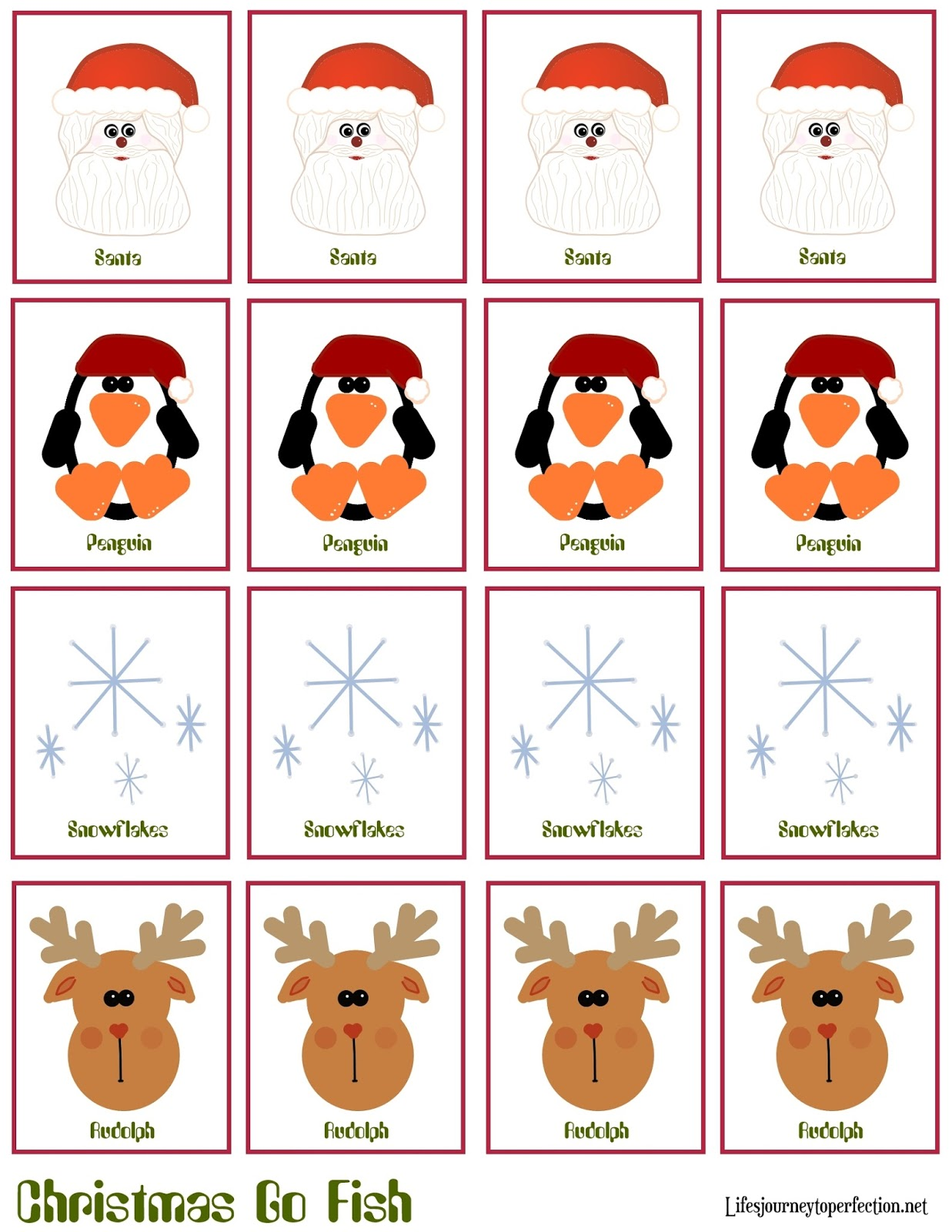 graphic about Printable Go Fish Cards named Lifes Excursion Towards Perfection: Xmas Craft: Xmas \