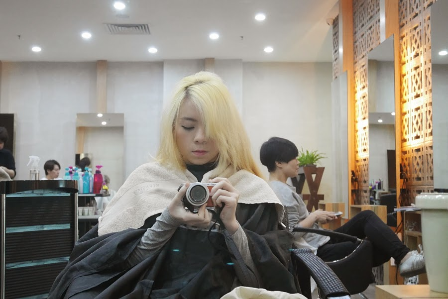 hair bleaching process