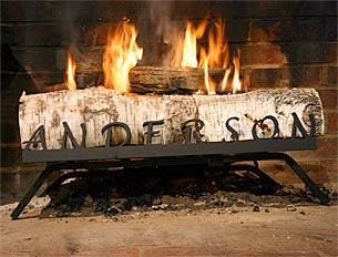 Personalized Fireplace Grate: Handmade