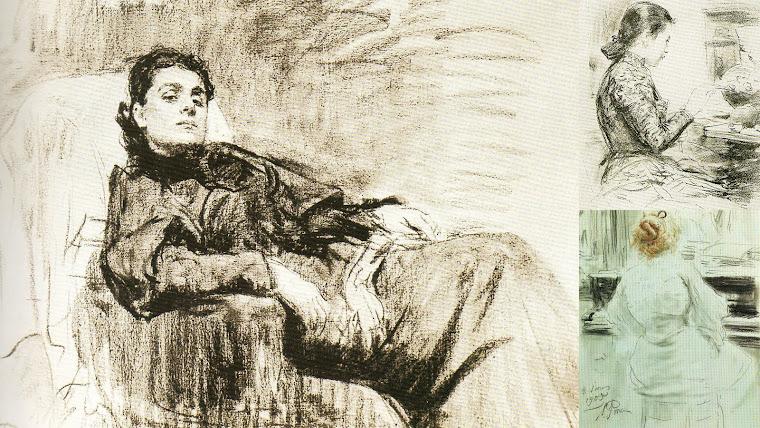 Desenhos de Ilya Repin.