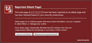 blog yang terdeteksi malware