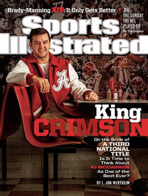 A.J. McCarron featured on cover of new edition of Sports Illustrated.