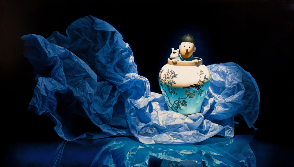 23-Tintin-and-Snowy-François-Chartier-Oil-on-Canvas-Hyper-Realistic-Paintings-www-designstack-co
