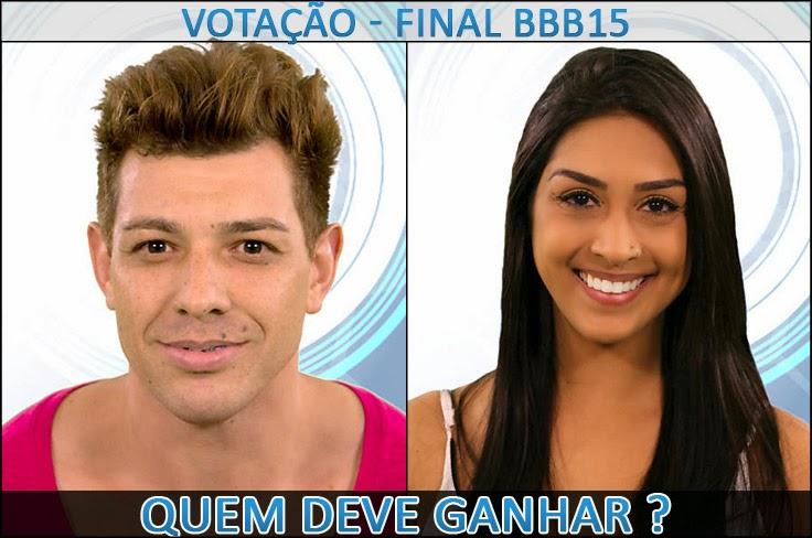 Votação Final BBB15 - Quem deve ganhar Cézar ou Amanda
