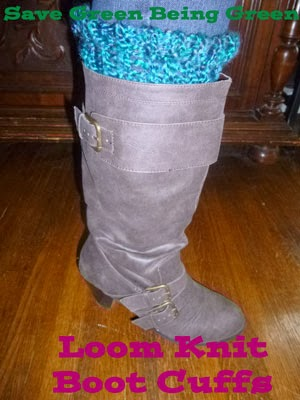 Save Green Being Green Loom Knit Boot Cuffs