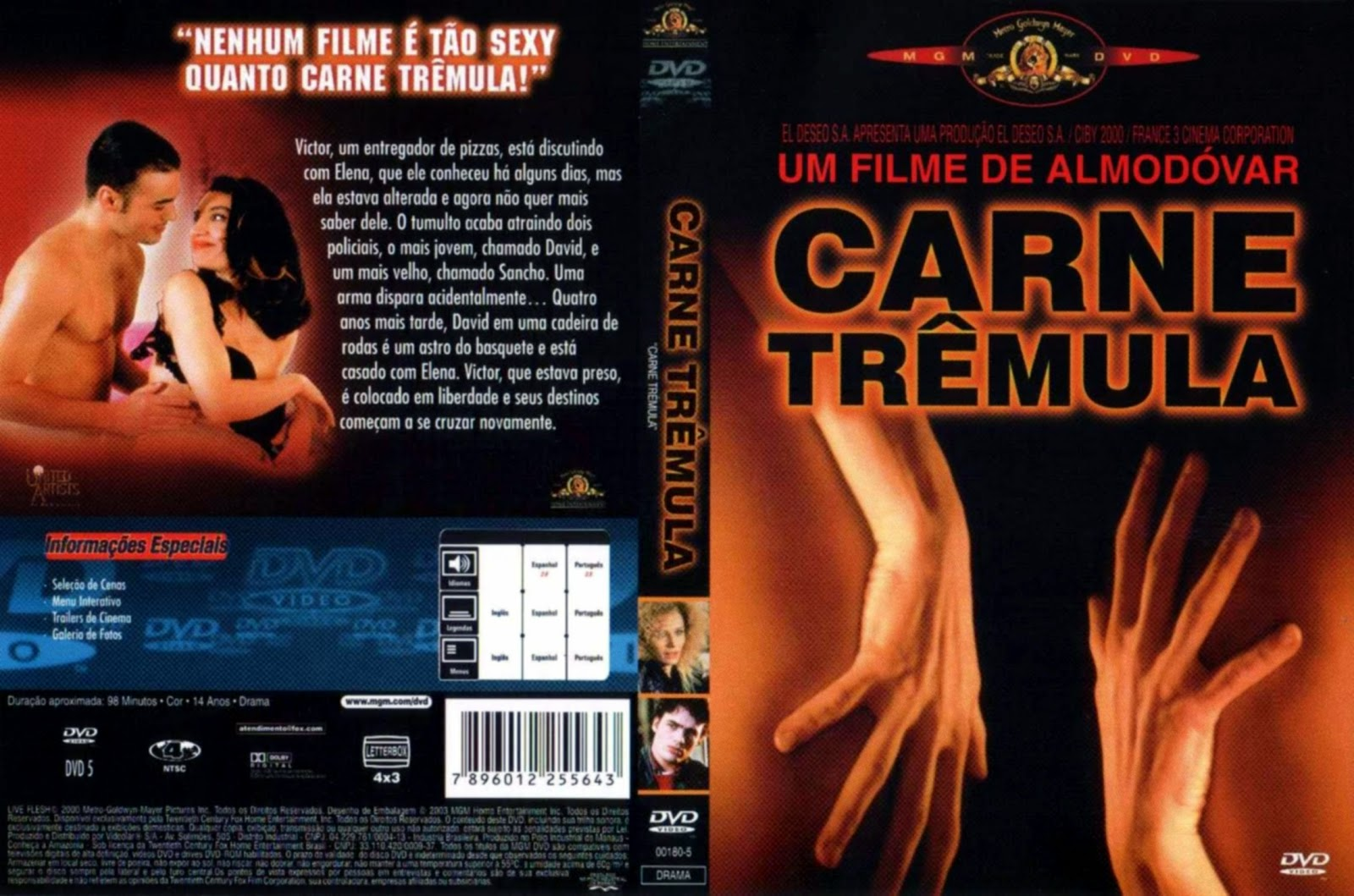 Capa DVD Carne Trêmula