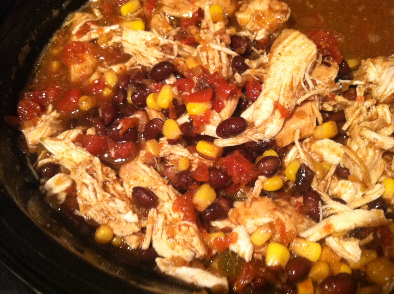 how to cook whole chicken in crock pot to shred