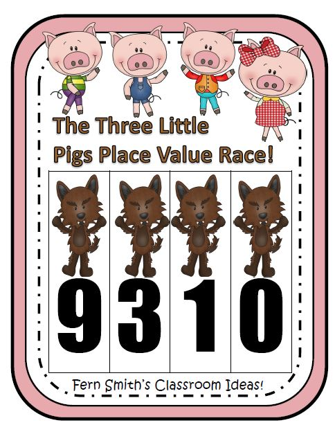 http://www.teacherspayteachers.com/Product/Place-Value-Race-Game-Three-Little-Pigs-Theme-By-Fern-Smith-473197