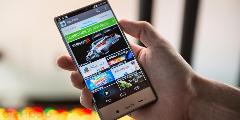 Smartphone Android Unik, Sharp Aquos Crystal X