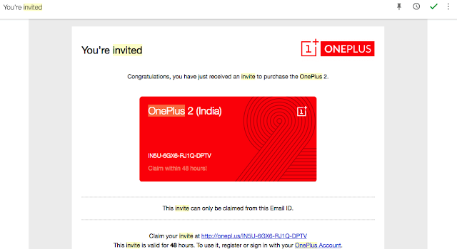 The Oneplus invite for 1+ came in too late.