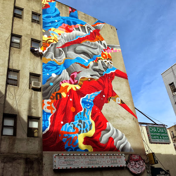 Liberty in the little italy campus mercante for Mural on broome street
