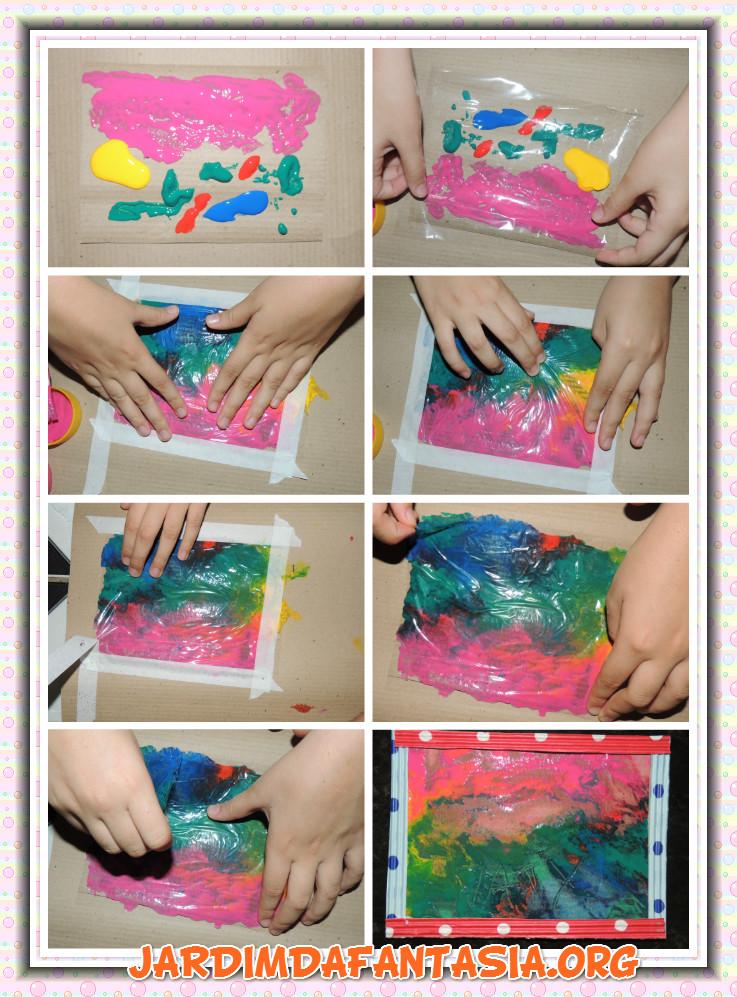 Muitas vezes Atividades Jardim da Fantasia: Artes Técnica de Pintura com Plástico SW28