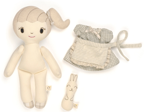 Organic Girl Heidi Doll for Baby