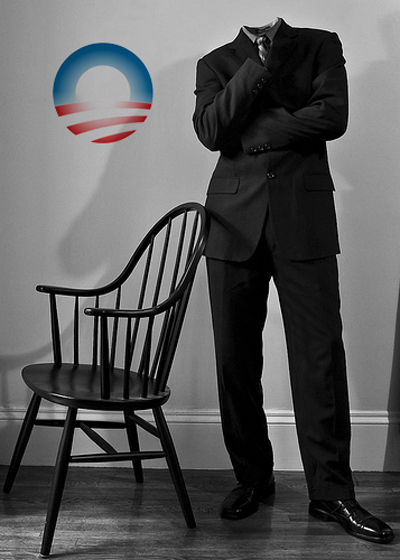 empty chair  empty suit obama