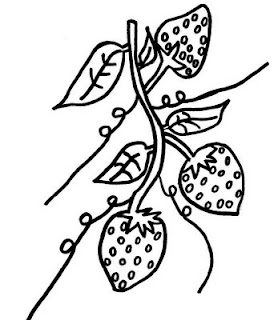 Desenho como desenhar morango vermelho   pintar e colorir