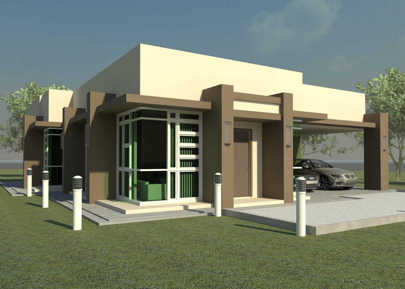 New home designs latest modern homes beautiful single for Single storey bungalow design