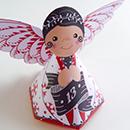 DIY calendrier de l'Avent anges en papier