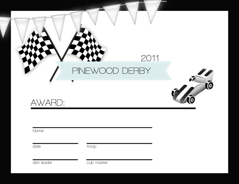 Persnickety prints blog cub scouts the pinewood derby for Pinewood derby certificate pdf