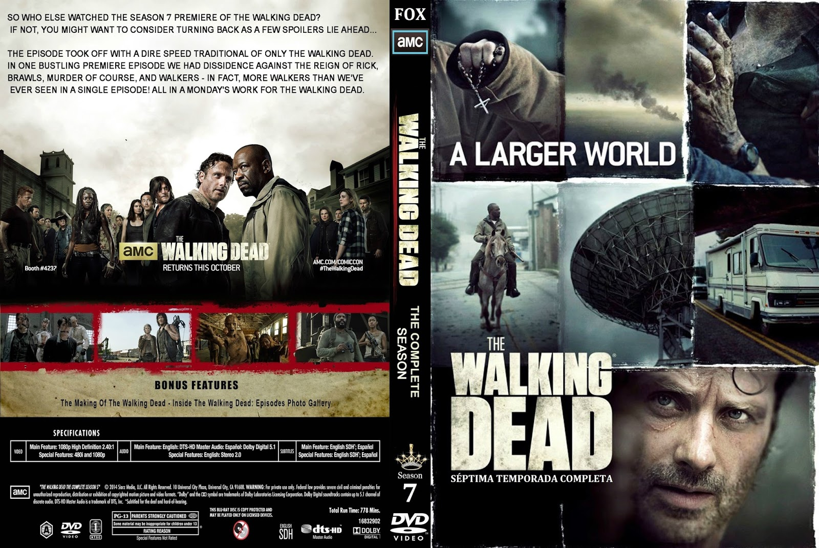The Walking Dead Temporada 7 Completa [16/16] (2017) [BrRip 720p][Dual Latino-Latino][MEGA]
