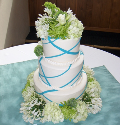 Wedding Cakes Pictures Blue And Green Wedding Cakes