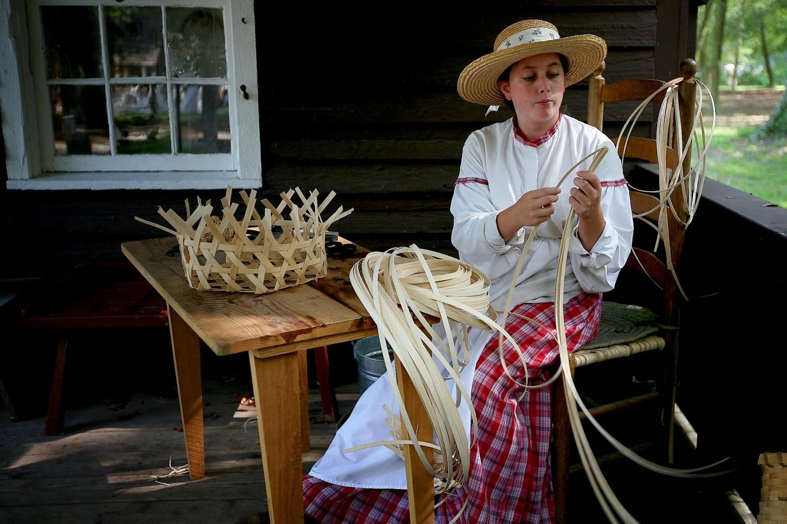 Traditional Basket Making : Palimpsest civil war reenactment