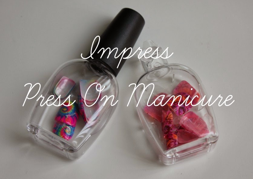 Impress Press On Manicure review Vamp It Up Nails Nail Polish Fake Nails Cheap Drugstore Tie Dye Watercolor Quick Fast Easy