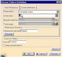 The dialog box catia cad