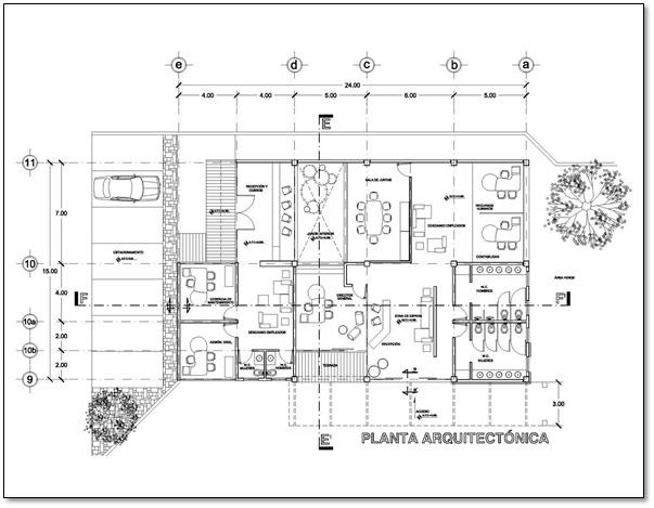 Construcci n interpretaci n de planos planos for Oficinas planta arquitectonica