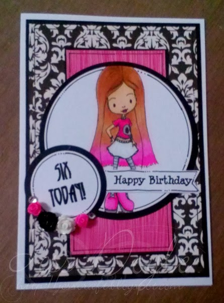 Jess Crafts Tiddly Inks Monster High Inspired Birthday Card
