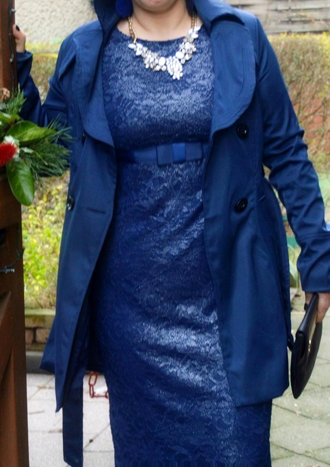 2 Dresses for Christmas - Blue Asos Maternity Dress Pic 1