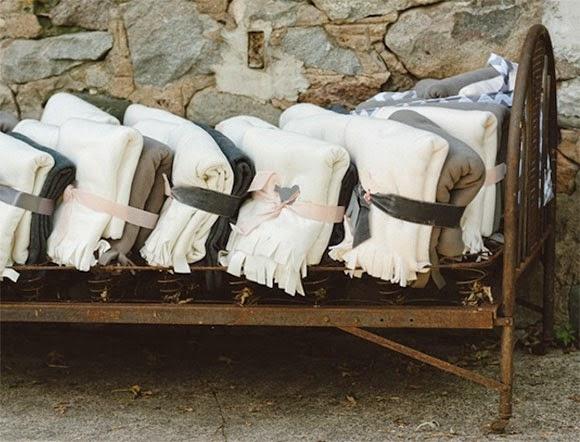 Casarse en invierno: Mantas para los invitados