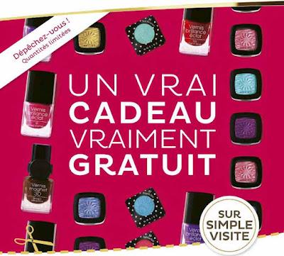 1 Produit maquillage Nocibé Gratuit offert sur simple visite !