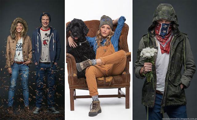 Moda invierno 2015 Mujer Hombre. Cook invierno 2015 camperas, camisas, jeans.