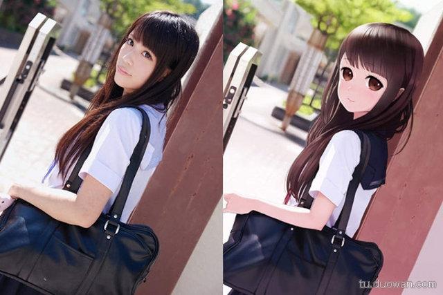 Porównanie anime do rzeczywistości: Dziewczyna z czarną torbą
