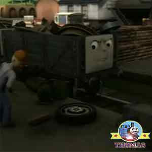 Rubbish removed the troublesome trucks Thomas and friends Whiff the green tank engine bump site
