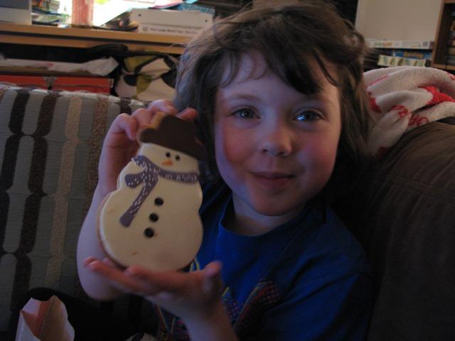 mr snowman cookie