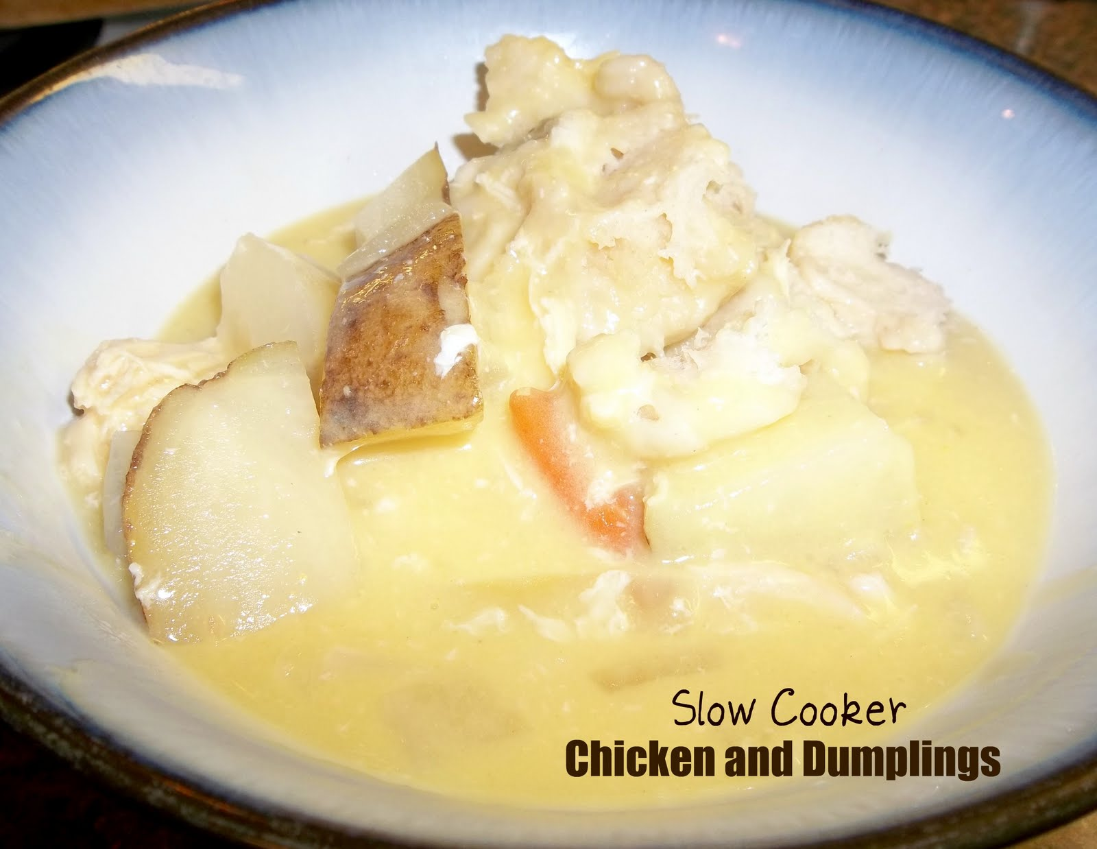 Healthy Meals Monday: Slow Cooker Chicken and Dumplings / Six Sisters ...