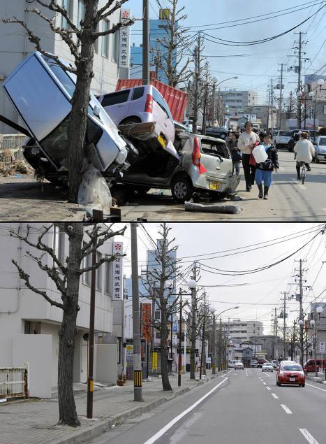 Foto Tsunami Jepang Sebelum Dan Sesudahnya