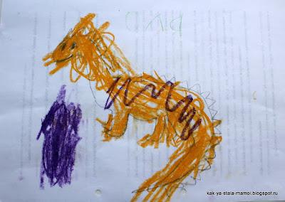 французский язык для детей, учимся играя, как нарисовать динозавра ребенку,