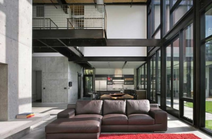 bedroom design blog: Steel And Glass House At Olson ...