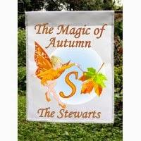 magic of autumn monogram flag