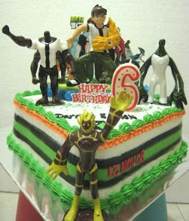 Ben 10 cakes for children parties
