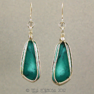 Handmade Handcrafted Matched Turquoise Earrings Sterling Silver
