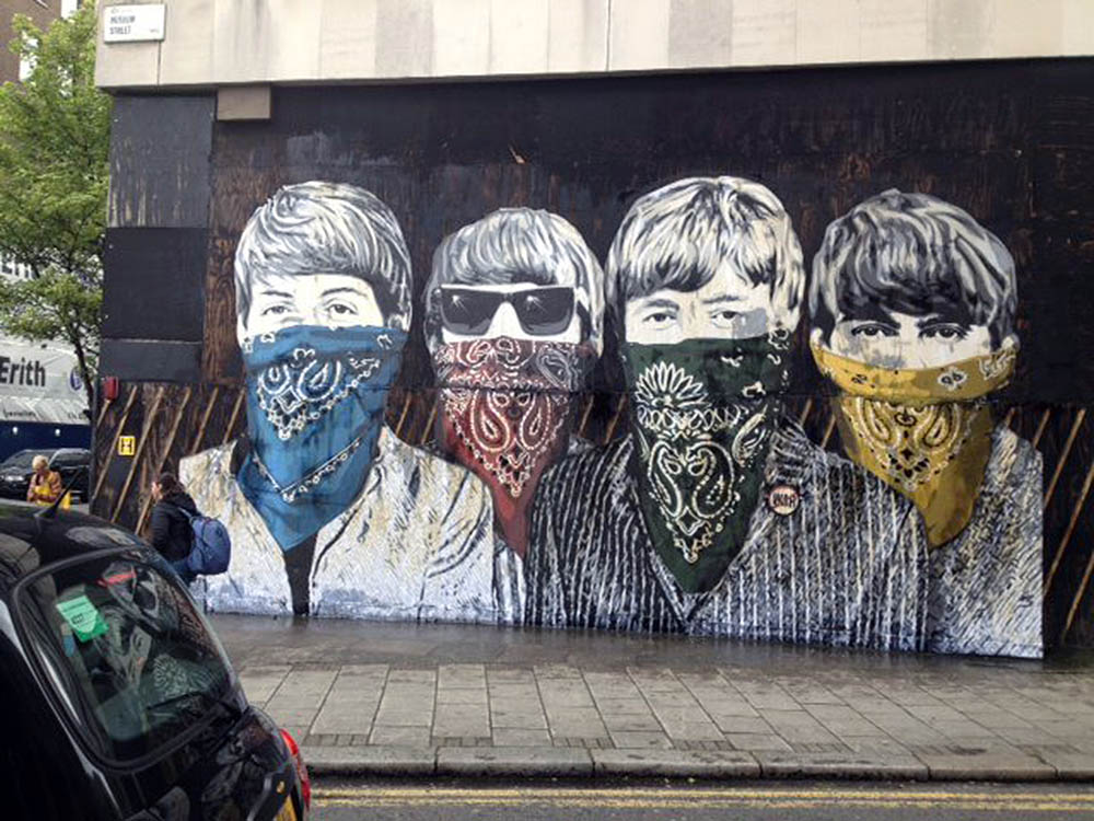 Mr brainwash new murals in london streetartnews for Mural mr brainwash